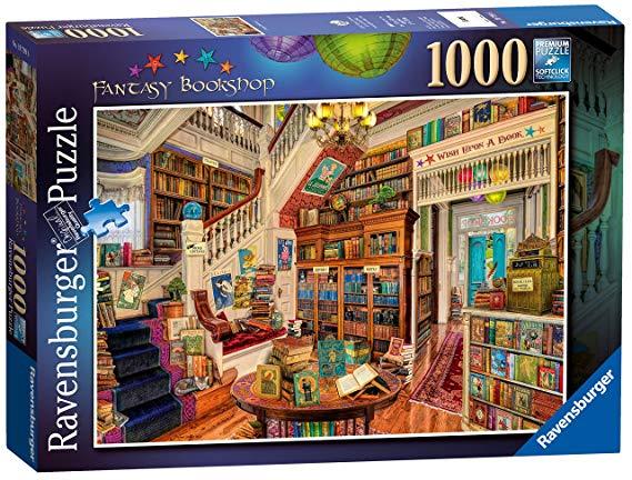 Fantasy Bookshop 1000 Piece Jigsaw Puzzle