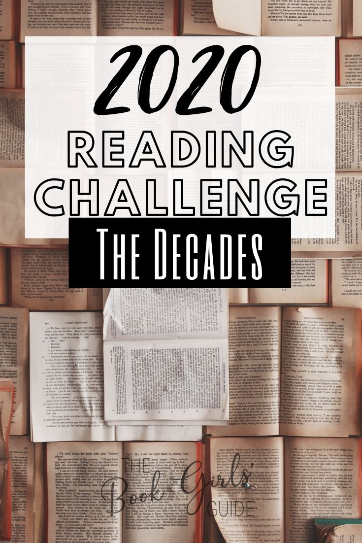 2020 Reading Challenge - The Decades - Words over open books