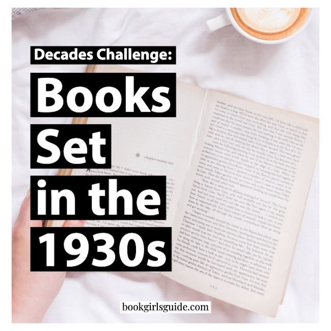 Reading a book on white bed, text on image: Books Set in the 1930s