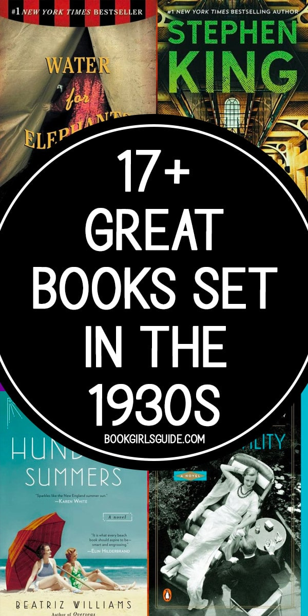 Books Set in the 1930s - Text over covers of Water for Elephants, Green Mile, A Hundred Summers & Rules of Civility