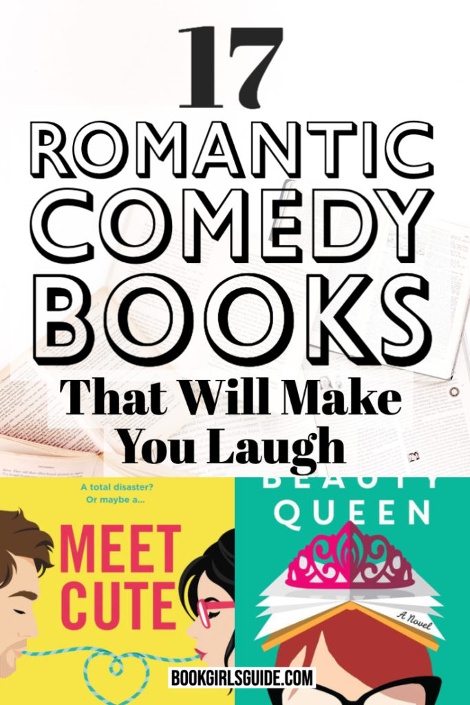 Best Romantic Comedy Books (Text over covers of Meet Cute & The Flatshare)