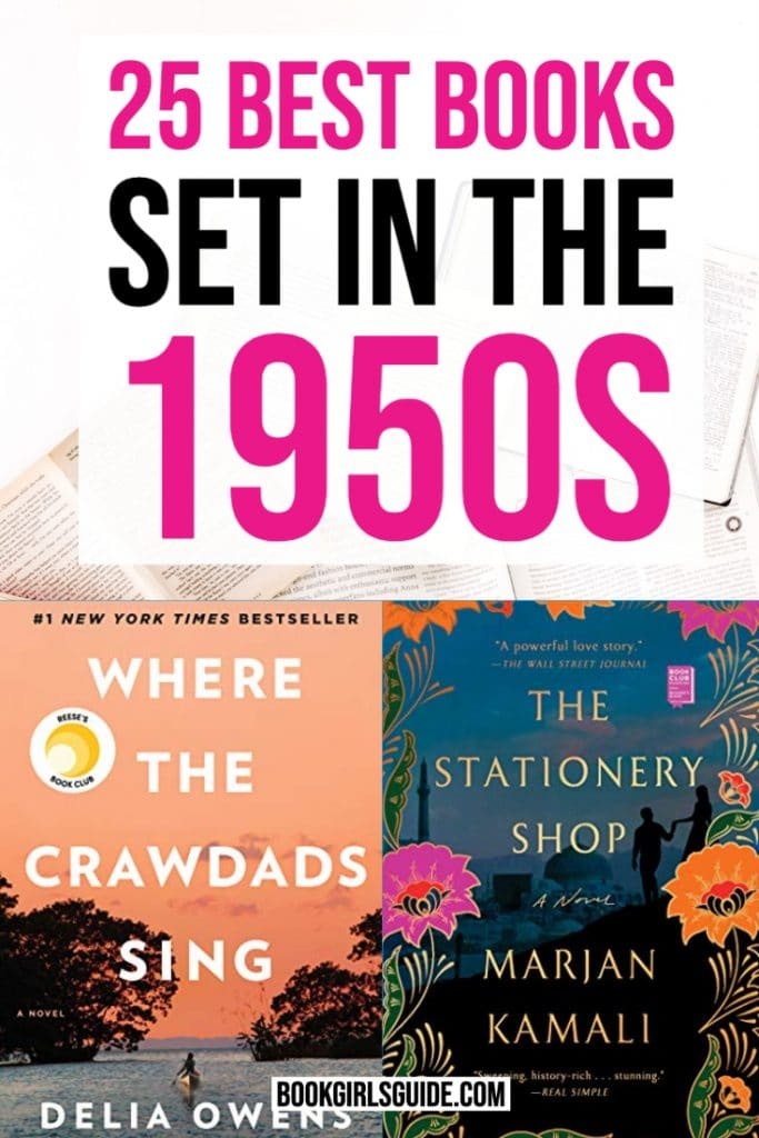 25 Books Set in the 1950s - Covers of Stationary Shop & Where the Crawdads Sing