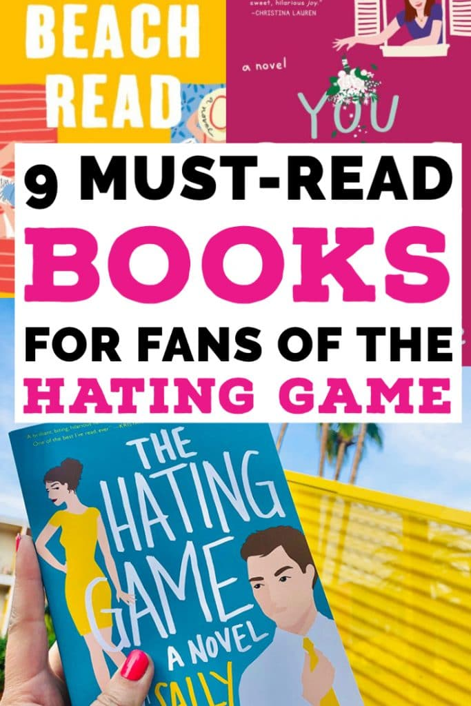 Text over book covers, 9 Must-Read Books for Fans of the Hating Game
