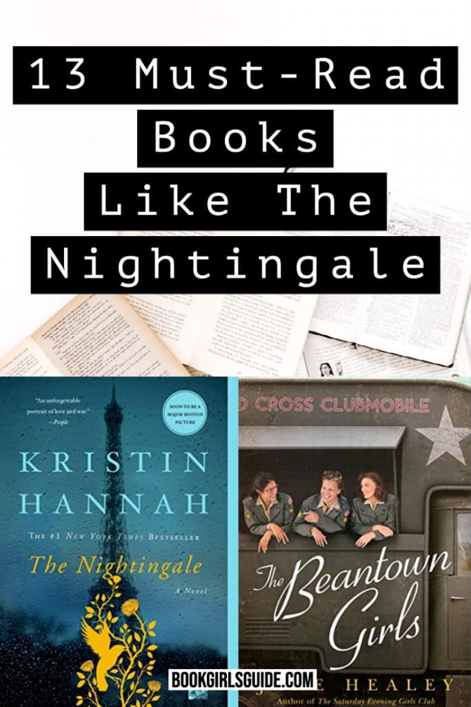 Books Liks The Nightingale (text over book cover)