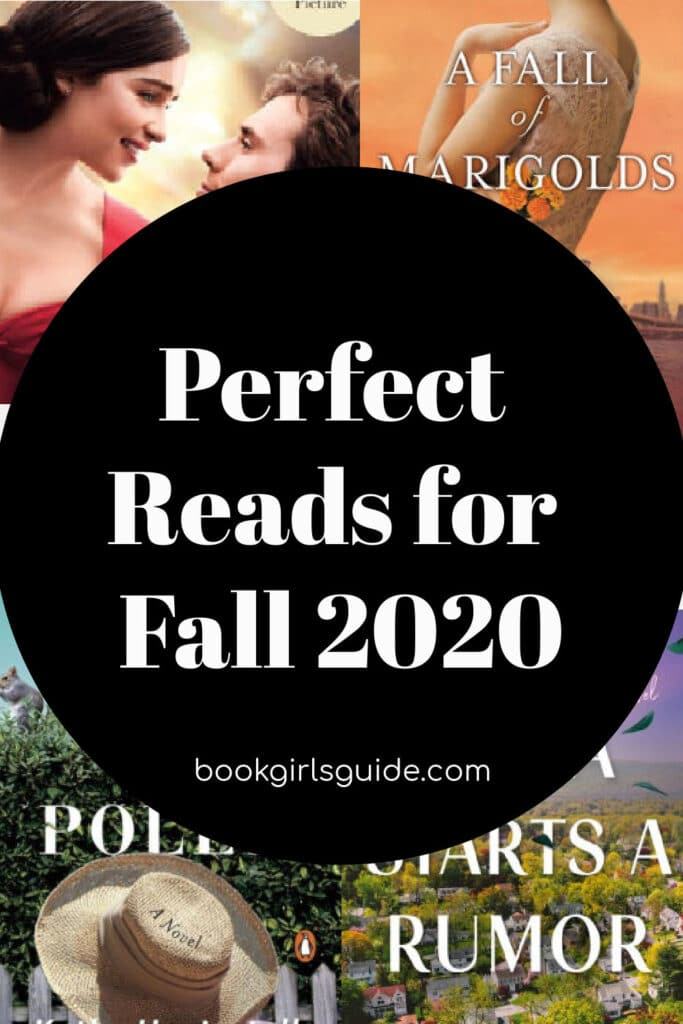 Perfect Reads for Fall 2020 (Text over obscured book covers).