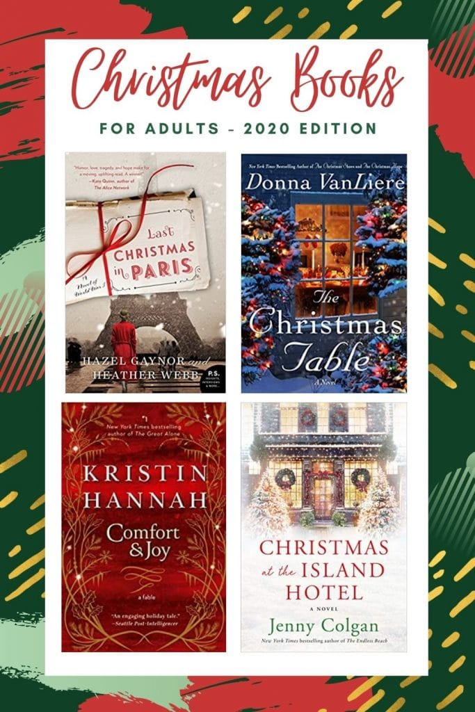 Christmas Books for Adults - 2020 Book covers for Last Christmas in Paris, The Christmas Table, Comfort & Joy and Christmas at the Island Hotel