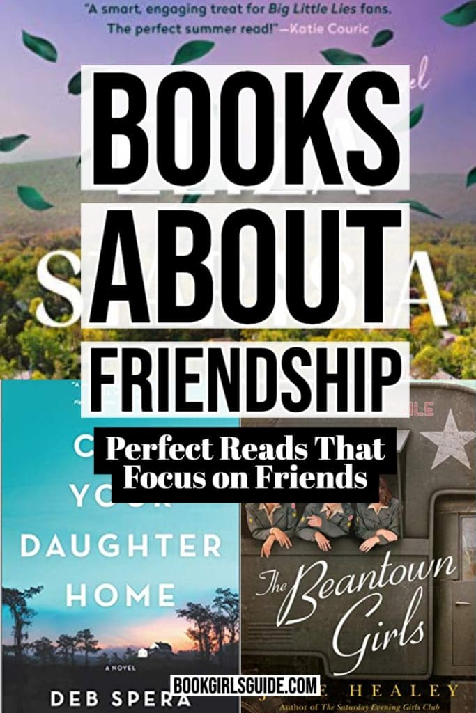 Books About Friendship (Text over book covers)