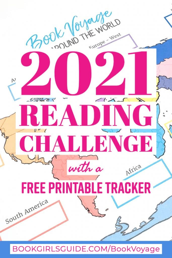 2021 Reading Challenge (Text over world map)