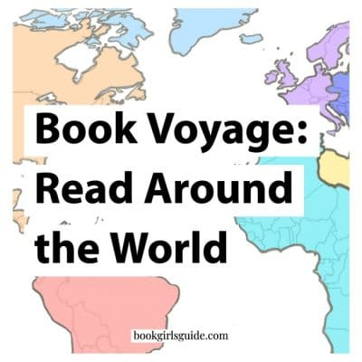 Text over colorful world map - Book Voyage: Read Around the World