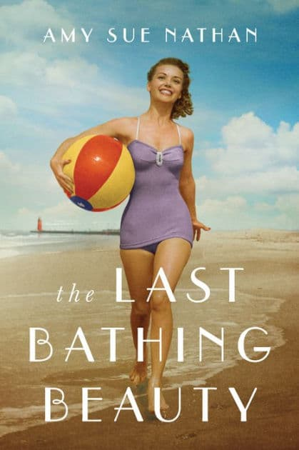 The Last Bathing Beauty Book Cover - Girl in 50s bathing suit on beach