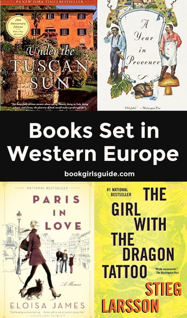 Books Set in Western Europe (Words with 4 book covers)