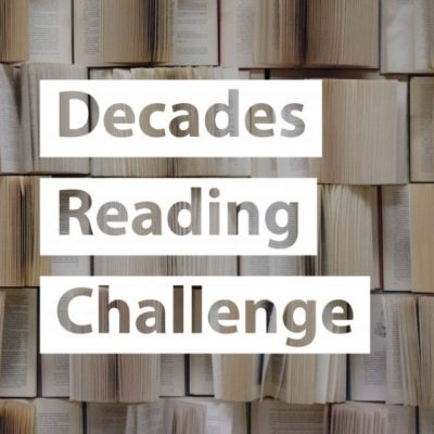 Text over spread of open books - Decades Reading Challenge